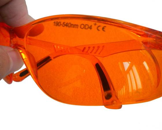 200nm-540nm Laser Safety Goggles Orange