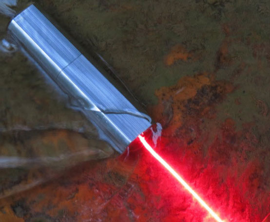 500mw~800mw 635nm Square Red portable laser -- With Pulsating Mo